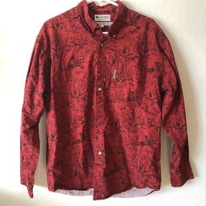 Vintage Columbia Duck and Pheasant button down